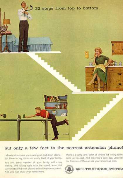 Bell Wall Phone Extension Telephone (1963)