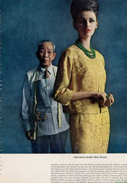 Dynasty Designer Silk Dress (1962)