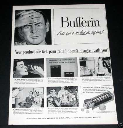 Bufferin, Twice As Fast Relief (1949)
