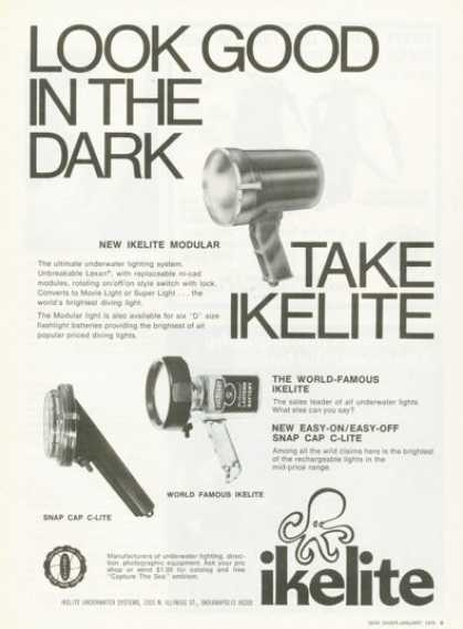 Ikelite C-lite Diving Scuba Diver Light (1976)