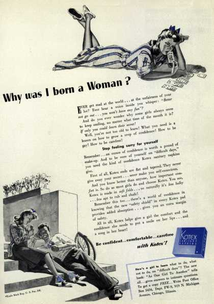 Kotex Company's Sanitary Napkins – Why was I born a Woman? (1941)