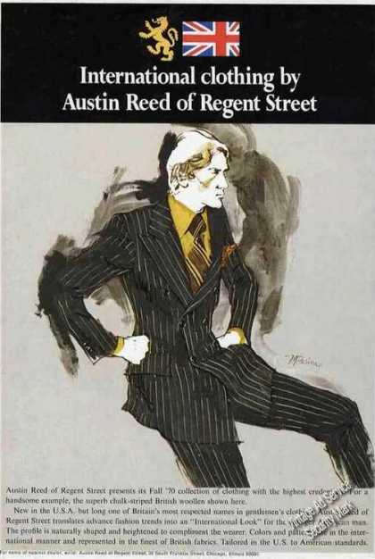 Austin Reed of Regent Street Clothing (1970)