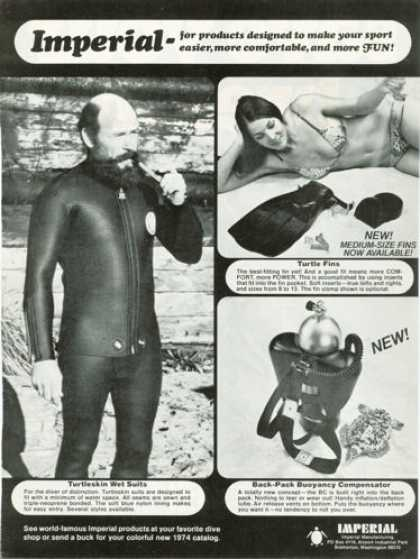 Imperial Turtleskin Wet Suit Fins Buoyancy (1974)