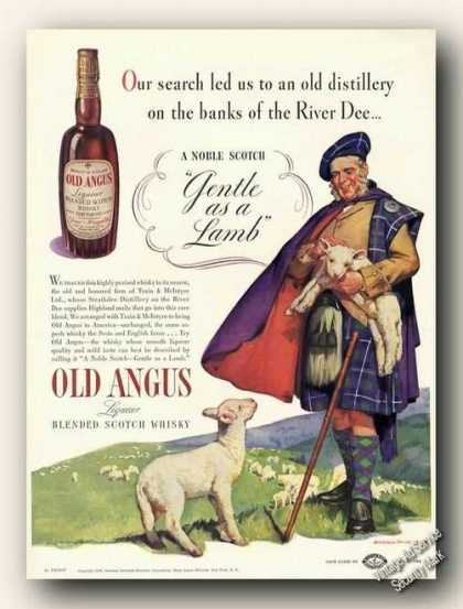 Harold Anderson Art Old Angus Scotch Antique (1938)