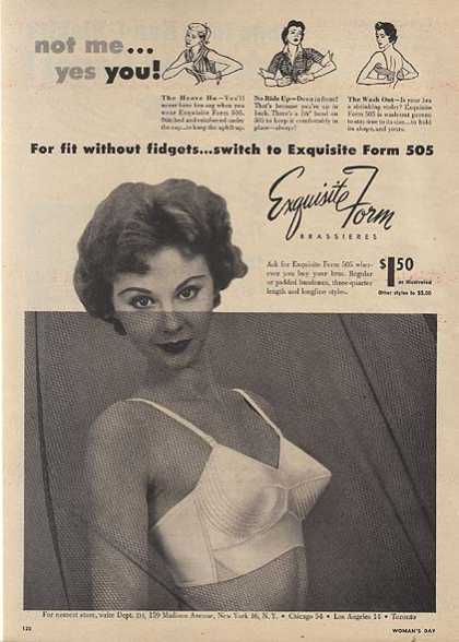 Exquisite Form's Brassieres (1954)
