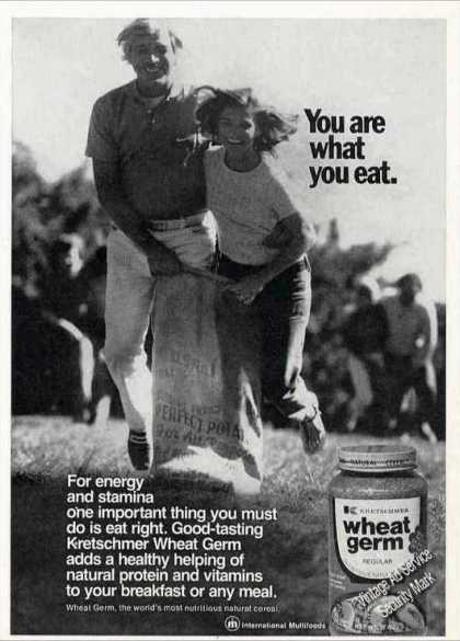 """You Are What You Eat"" Kretschmer Wheat Germ (1974)"