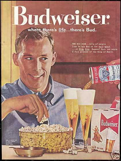 Budweiser Beer Can Glass Popcorn (1960)