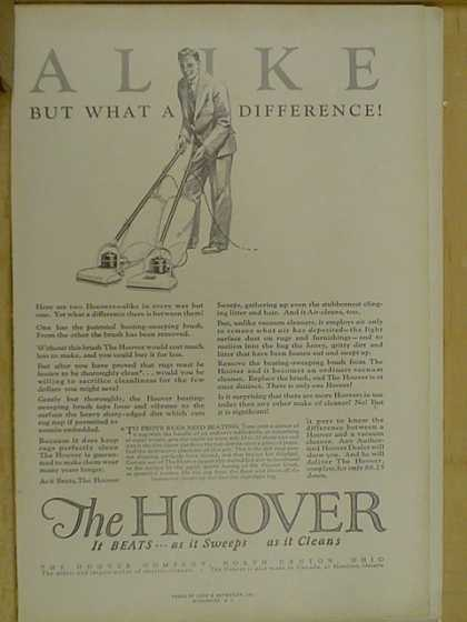 The Hoover Vacuum. Beats as it sweeps. (1926)