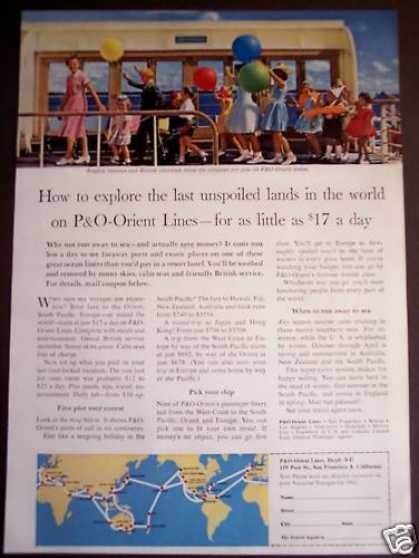 Children Having Fun On P&o-orient Lines Cruise (1962)