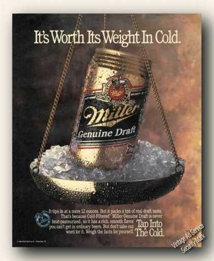 Miller Beer Worth Its Weight In C (1989)