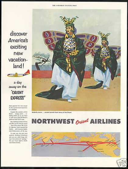 Northwest Orient Airlines Butterfly Dance (1954)
