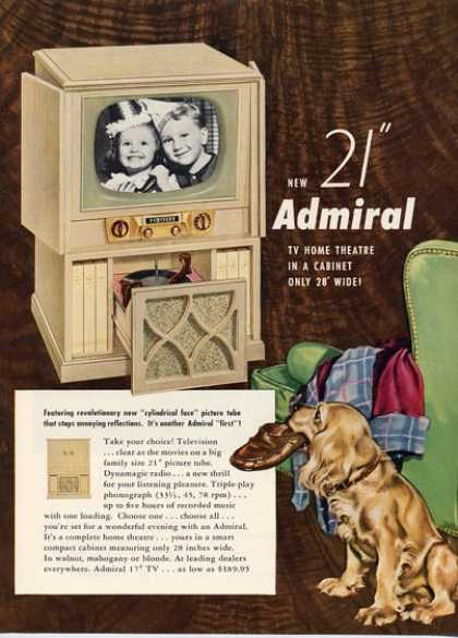 Admiral Television Tv Cabinet (1952)