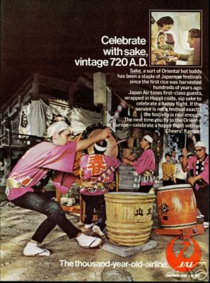 JAL Japan Airlines Sake Happy Flight (1972)