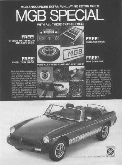 British Leyland Motors Inc. MGB Car – Leonia, NJ (1977)