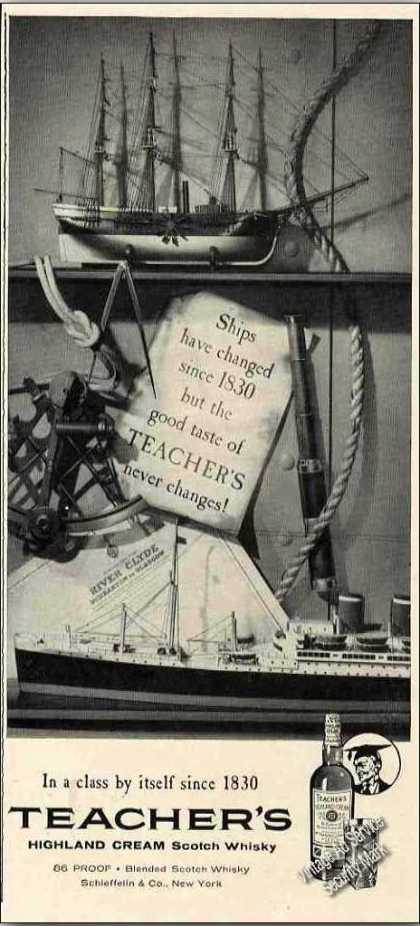 Teacher's Scotch In Class By Itself Since 1830 (1957)