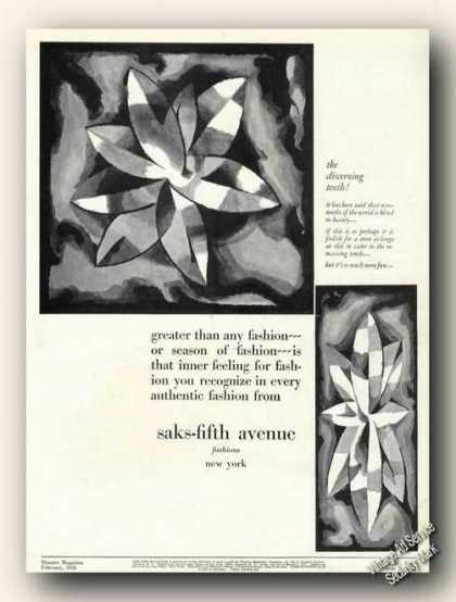 Saks-fifth Avenue Fashion Art Discerning Tenth (1928)
