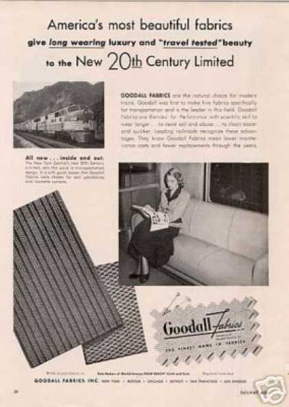 "Goodall Ad New York Central ""20th Century Limited"" (1948)"