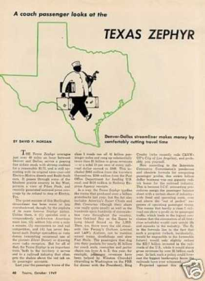 """Texas Zephyr"" Article/david P. Morgan (1949)"