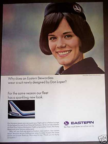 Eastern Airline Stewardess Pamela Ware Photo (1965)