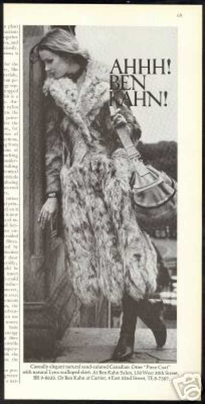 Ben Kahn Otter Lynx Fur Coat Photo (1971)