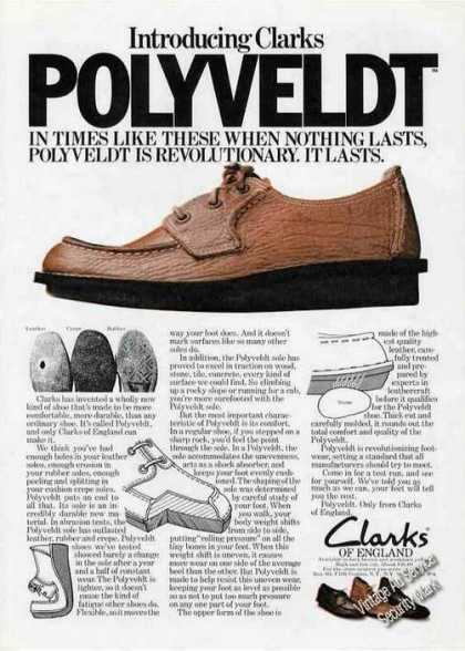 Clarks of England Shoe With Polyveldt Sole (1974)