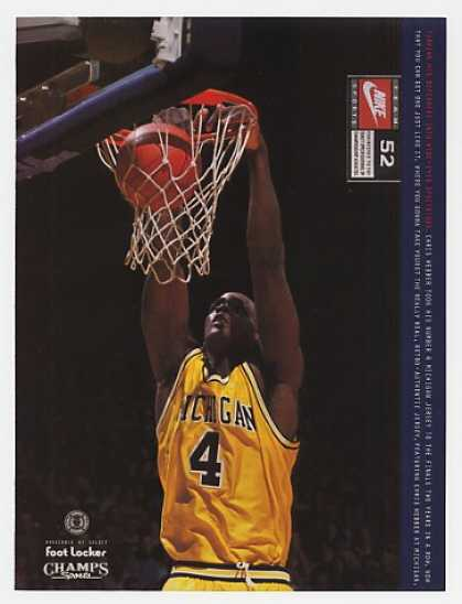 Michigan Chris Webber Photo Nike Jersey (1994)