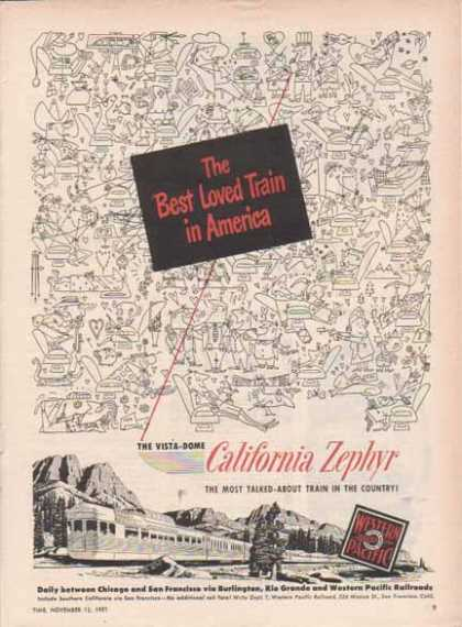 Western Pacific California Zephyr – Best Loved Train (1951)