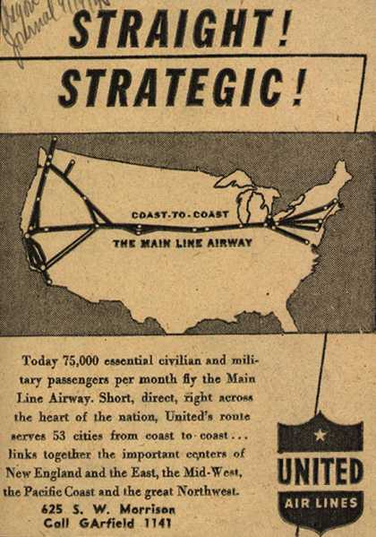 United Air Lines – Straight! Strategic (1945)