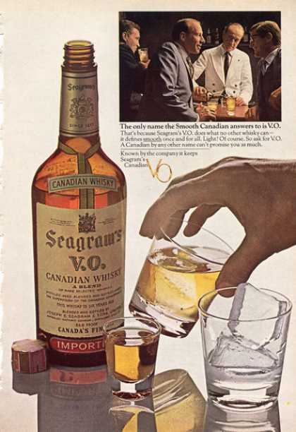 Seagram's Vo Canadian Whisky Bottle (1966)