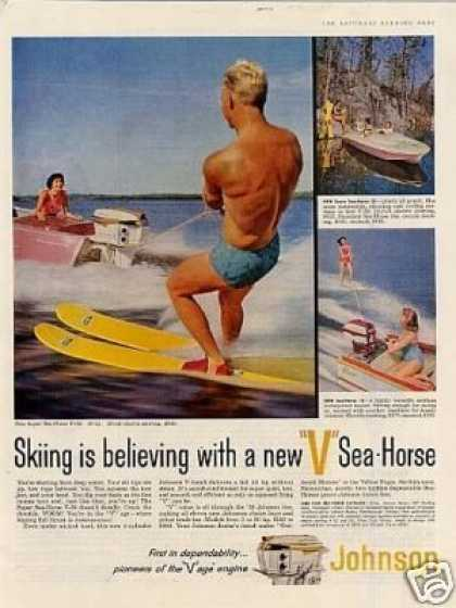 Johnson V Sea-horse Outboard Motor (1958)