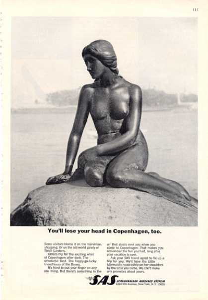 Sas Airlines Copenhagen Little Mermaid Statue (1964)