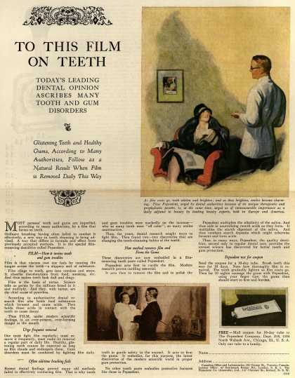 Pepsodent Company's Pepsodent Tooth Paste – To This Film On Teeth (1926)