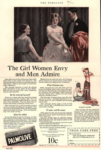 Palmolive Company's Palmolive Soap – The Girl Women Envy and Men Admire (1922)