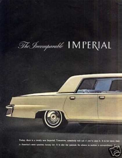 Chrysler Imperial Car Ad 2 Page (1964)