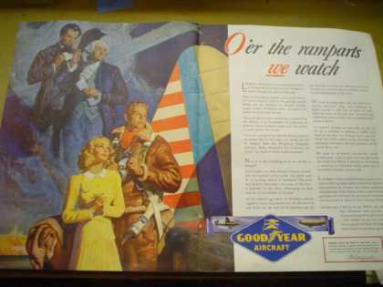 Goodyear Aircraft O'er the ramparts we watched. Patriotic war theme (1941)