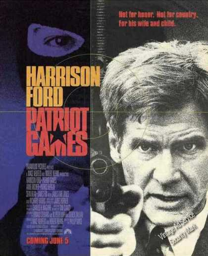 "Harrison Ford ""Patriot Games"" Movie (1992)"