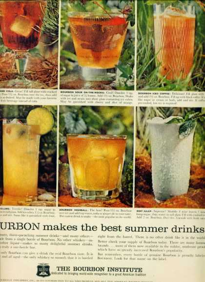 The Bourbon Institute Ad Coctail Recipes W Photos (1960)