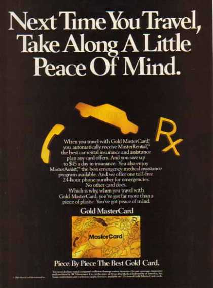 Master Card Gold – Peace of Mind (1989)