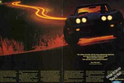 Chevrolet Corvette Dramatic Nightime Photo (1981)