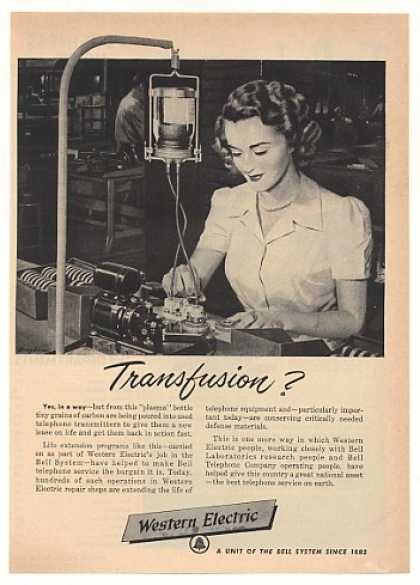Western Electric Bell Phone Transmitter Repair (1951)