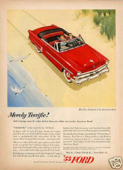 "Ford Car Ad ""Merely Terrific... (1953)"