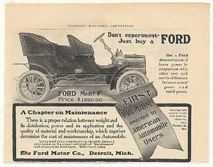 Ford Model F Automobile Car (1905)