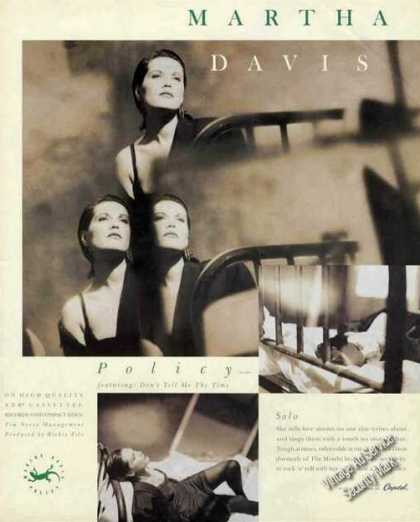 Martha Davis Photo Capitol Records Promo (1987)