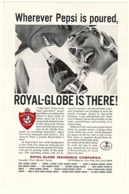 Pepsi Pepsi-Cola Royal-Globe Insurance (1965)