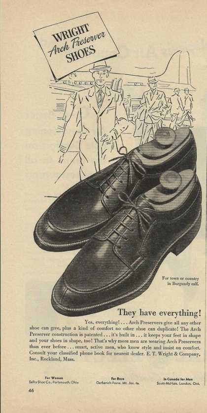 Wright Arch Preserver Mens Shoes (1948)