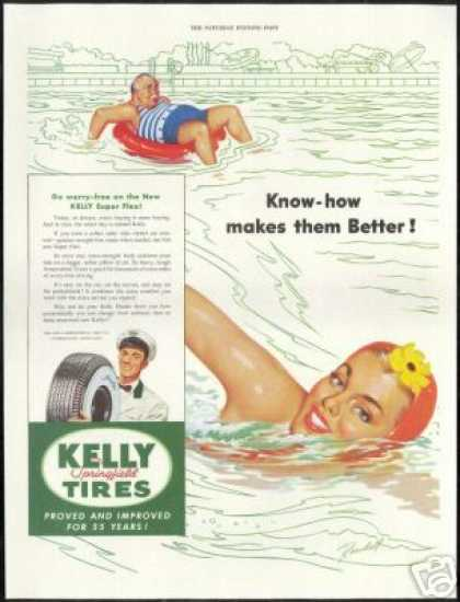 Swim Pretty Swimmer Randall Art Kelly Tire (1949)
