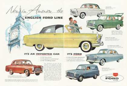 English Ford 6 Models Anglia Van Consul (1958)