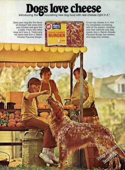"Golden Retriever Photo ""Dogs Love Cheese"" (1971)"