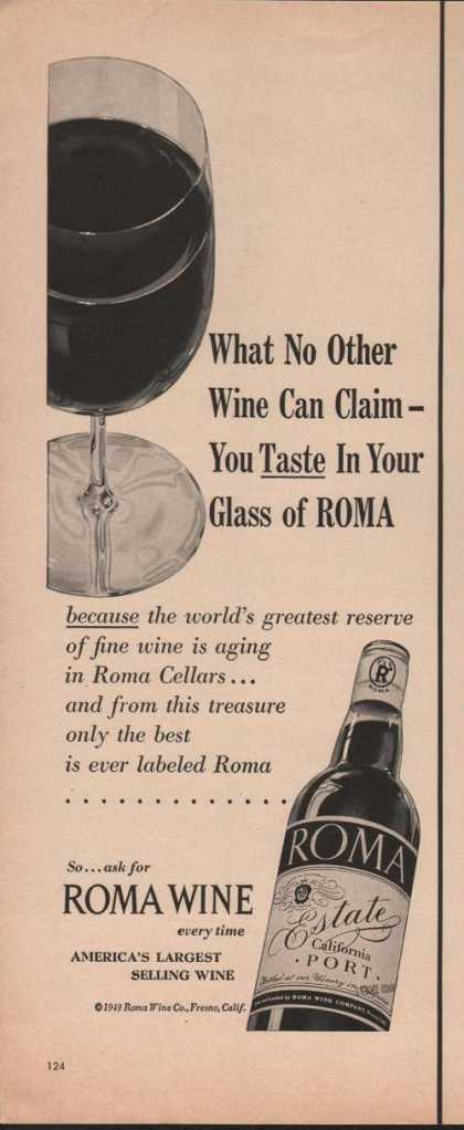 Roma Wine California Port (1949)