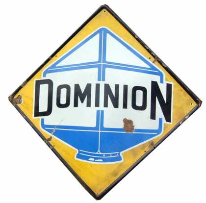 Dominion Petrol Garage Sign